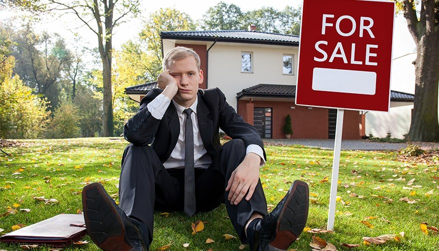 Estate Agents Looks sad