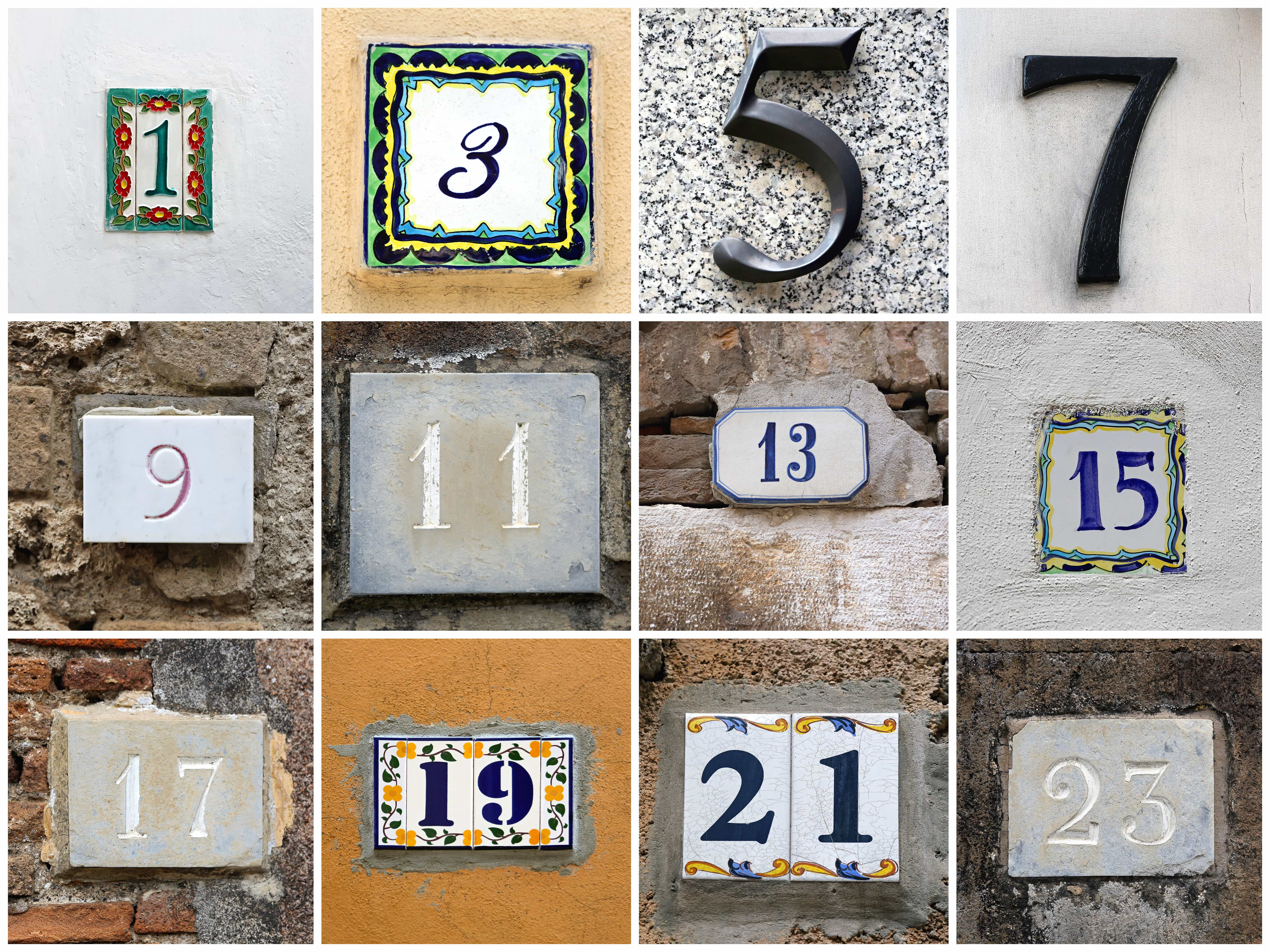 Odd Numbers Grid Layout