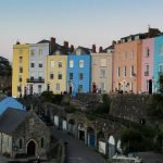Colorful housing in South Wales United Kingdom