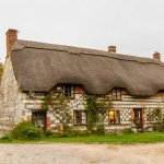 Cottage-with-a-thatched-roof-