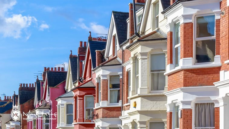 a row of terraced houses in South Wales