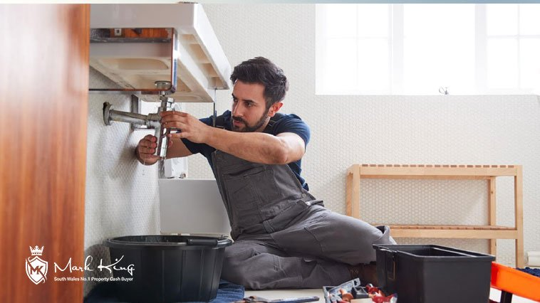 House seller making home improvements
