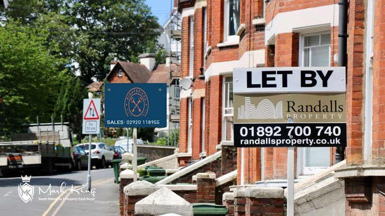 A row of houses for sale in South Wales UK - Mark King Properties explores, wlill the property market crash